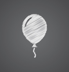 Balloon sketch logo doodle icon vector