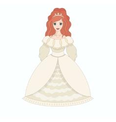 Beautiful princess eps10 vector image vector image