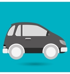 Car pin location icon vector
