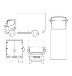 cargo truck transportation on outline fast vector image vector image