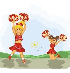 Cheerleaders vector