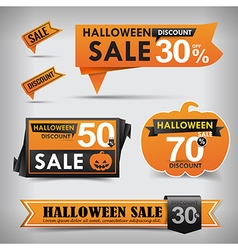 Collection of halloween web tag banner promotion vector
