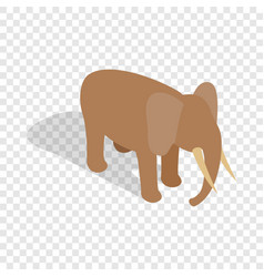 Elephant isometric icon vector