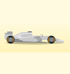 Gray racing bolid sports car quick transport vector