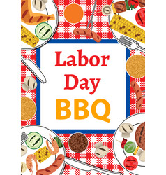 Labor day bbq vector