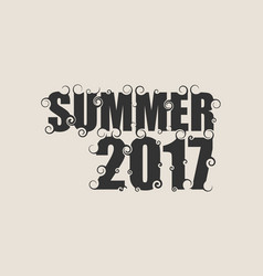 lettering with word summer vector image vector image