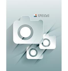 Photo 3d paper design vector image