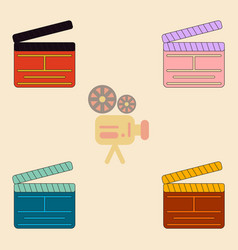 Producer clapperboard vector