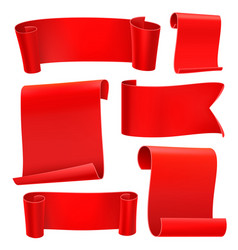 red tapes template set vector image vector image