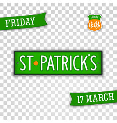 Saint patricks day design elements vector