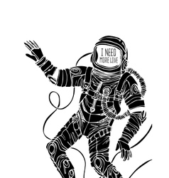 Space concept with astronaut vector image vector image