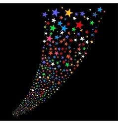 Sparkle star salute vector