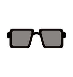 square frame sunglasses icon vector image