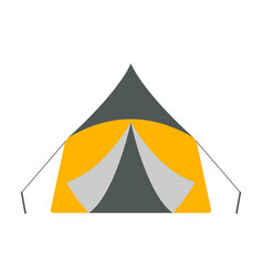tent icon tourism equipment vector image