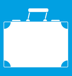 Travel bag icon white vector