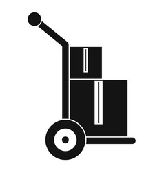 truck with boxes icon simple style vector image