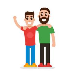 two best friends friendship concept vector image