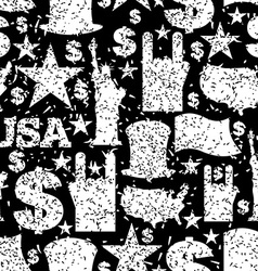 USA patriotic symbol seamless pattern grunge style vector image vector image