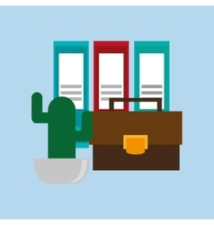 Office related items icon vector