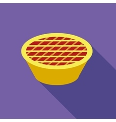 Thanksgiving pie icon flat style vector