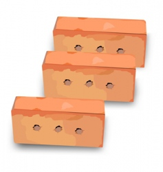 three red bricks vector image