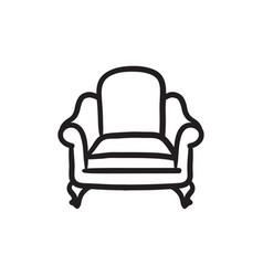 Armchair sketch icon vector