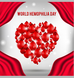 World hemophilia day poster realistic vector
