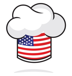USA chef hat vector image