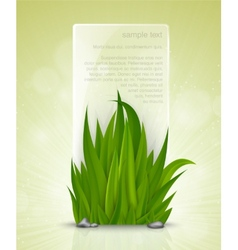 Natural frame of the green grass vector