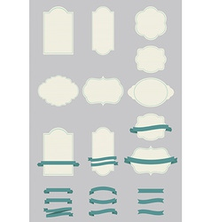Labels and ribbons vector