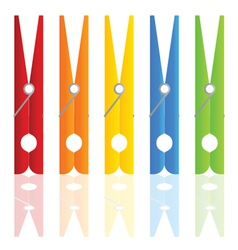 Clothespin in color vector