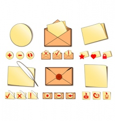 Set of icons for email vector