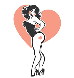 plus size pinup girl vector image