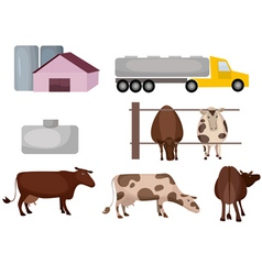 Milk farm vector