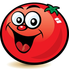 happy tomato character vector image