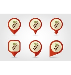 Currant mapping pins icons vector