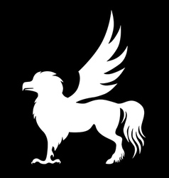 hippogriff black vector image