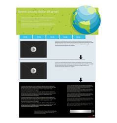 Video feature web page vector