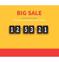 Opening soon big sale countdown vector