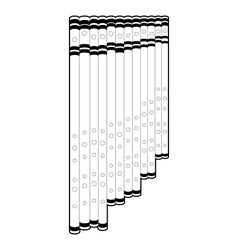 Outline panpipe vector image