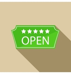 Hotel open sign icon in flat style vector