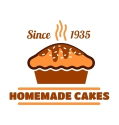 Homemade cakes and pies symbol for bakery design vector