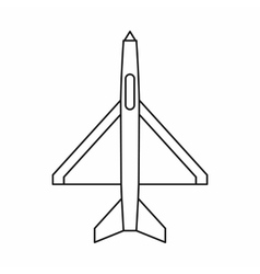 Military aircraft icon outline style vector