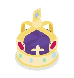A royal crown icon isometric 3d style vector