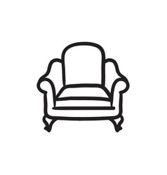 Armchair sketch icon vector