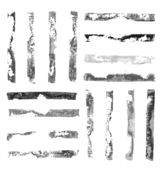 Black and white rectangular paint stamps vector