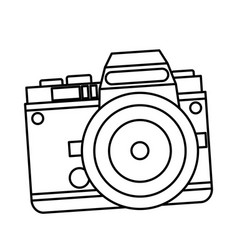 Camera photo picture travel equipment line vector
