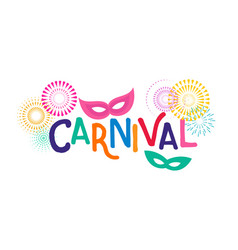 carnival poster with colorful party elements vector image vector image