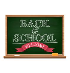 Chalk on a blackboard - back to school vector