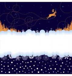 Christmas banner with reindeer vector image